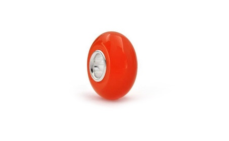 Bling Jewelry 925 Silver Opaque Orange Murano Glass Bead aab30d8a-75e9-4f85-af52-8bff2e5a2fe1