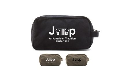 Jeep An American Tradition Canvas Travel Toiletry Bag