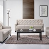 Arcadia Tufted Fabric Living Room Set (3-Piece)