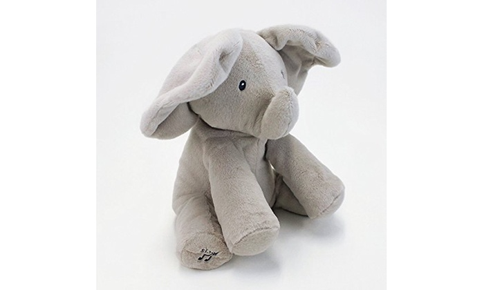 """Plush Elephant Plays peek-a-boo sings /""""Do Your Ears Hang Low/"""" 12/"""" Baby Toys new"""