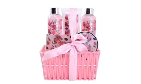 Spa Gift Basket Includes Shower Gel, Bubble Bath, Body Lotion & Butter, Bath Salt 8e99c4d8-69b3-484e-91ae-07f634d9daf9
