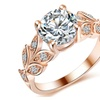Crystal Flower Wedding/Engagement Women's Ring