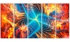 Electric Fire  - Large Abstract Wall Art