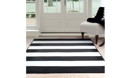 Lavish Home Breton Stripe Round or Rectangular Area Rug (Multiple Sizes Available)