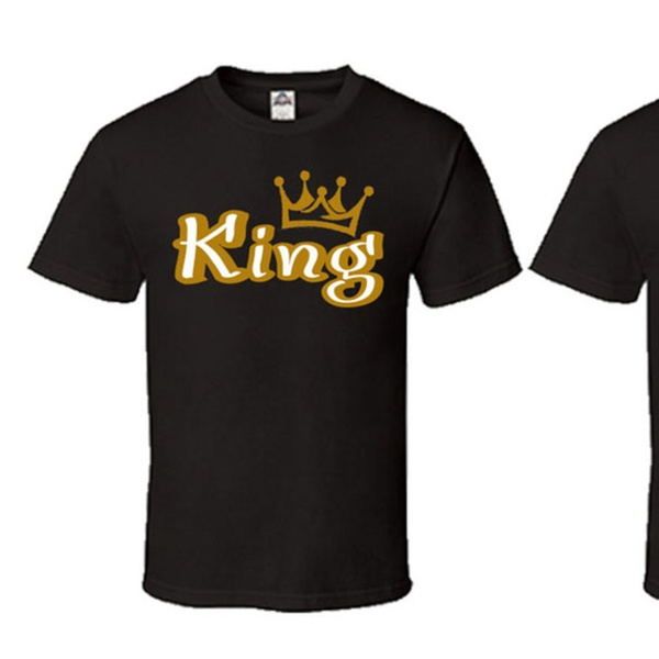 d3307688c439 Gold King Queen Crown T Shirt Couple Matching Shirts
