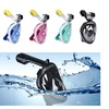 Dry Dive Full Face Snorkel Mask with GoPro Mount Breathe Free Design