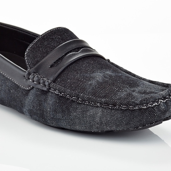 7b6b8d68049 Closeout  Men s Slip-On Casual Denim Horse Shoe Penny Loafers