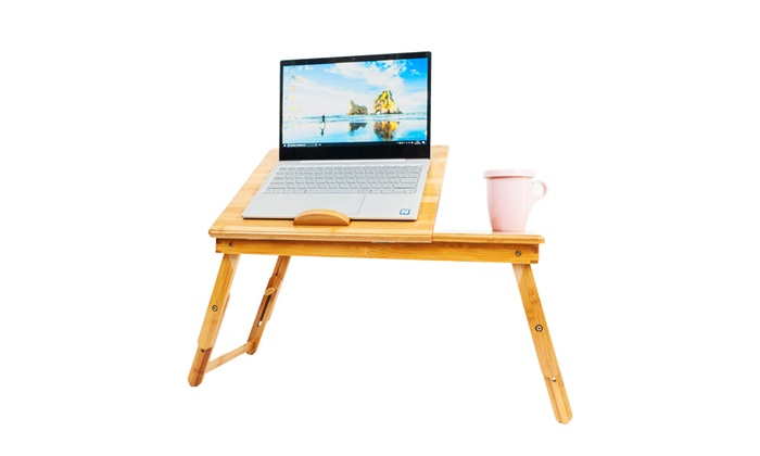 53CM Foldable Adjustable Coffee Laptop Desk Computer Table Stand Sofa Bed Home