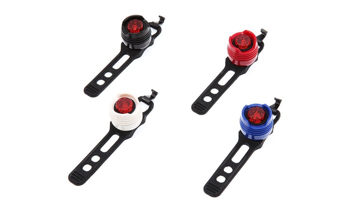 Waterproof Front and Rear LED Bike Light Set (4-Piece)