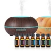 Aesthetics Ultrasonic Cool Mist Diffuser and Oil Gift Set (9-Count)