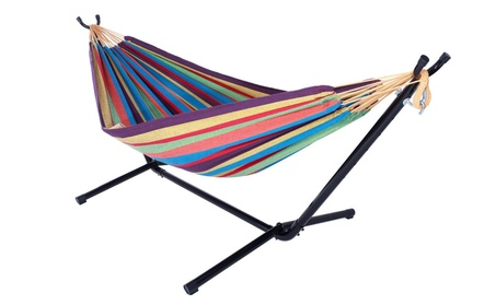 Space Saving Steel Stand with Double Hammock Portable Carrying Case fe248e68-ddef-4fa3-8b95-979b05da78fb