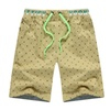 Men's Cotton Relaxed Fit Dot Print Beach Board Shorts