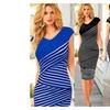 New women dress irregular bump color summer printed dress