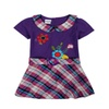Kids Girls Purple Embroidery Dress
