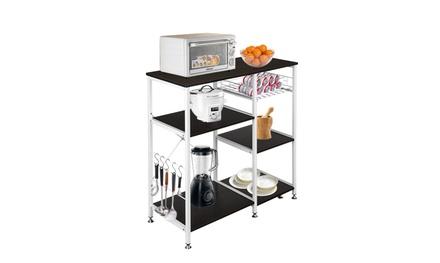 "35.5"" Kitchen Rack Utility Storage Shelf Microwave Stand Table"