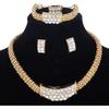 African Costume Beads Wedding Women's Bridal Jewelry Set