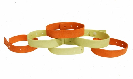 6 or 12 Natural Mosquito Repellent Wrist Band Bracelets