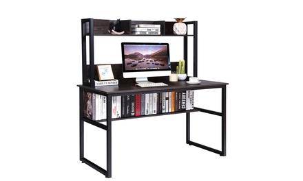 Computer Desk with Hutch & Bookshelf Home Office Study Wrting Desk Space Saving