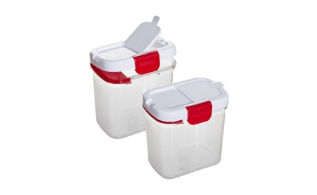Powdered Sugar Keeper with Built in Leveler 1Qt, Set of 2 a378fdbe-7e85-413a-9404-b0bf42ab1bb9