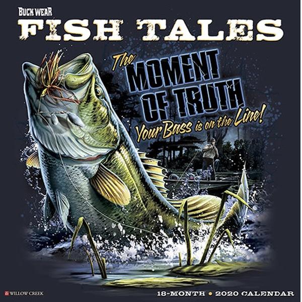 Uf Calendar 2020.2020 Buck Wear S Fishing Tales Wall Calendar
