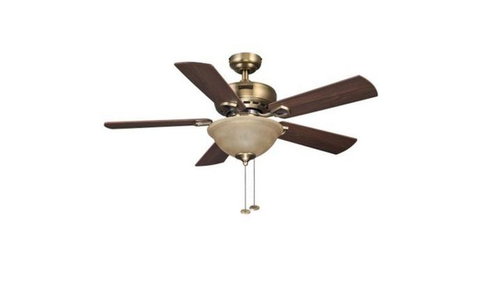 Honeywell 44 blaise antique brass ceiling fan groupon honeywell 44 blaise antique brass ceiling fan aloadofball Gallery