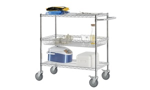 36 in. W x 45 in. H x 18 in. D Commercial Grade Wire Shelving Cart