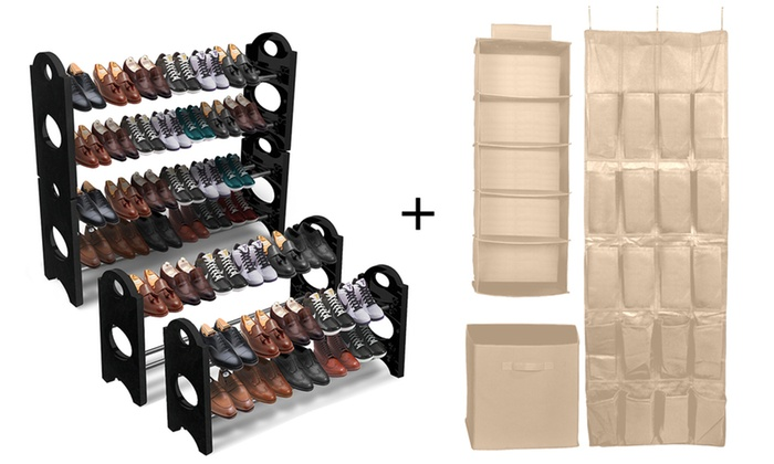 Exceptionnel Sorbus Closet Organization Set (3 Piece) And Shoe Rack ...