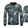 Men's Camouflage Lion Print Coat Collar Jacket