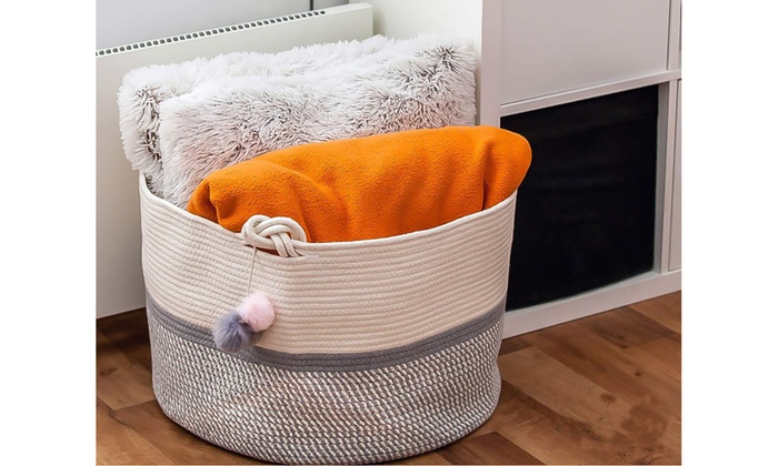 Up To 64 Off On Cotton Rope Basket For