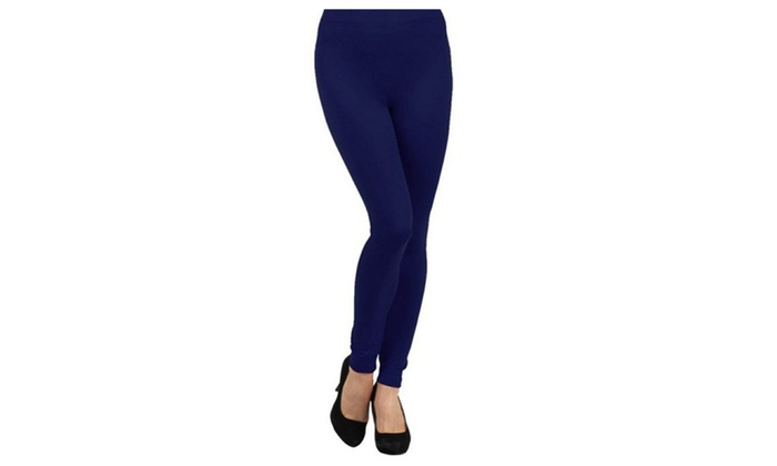 West Loop Women/'s Leggings Fleece Navy M//L