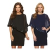 Womens Batwing Flutter Sleeve Stretch Bodycon Party Clubwear Dress