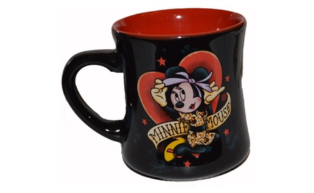 Disney Parks Original Minnie Mouse Tattoo 10oz Coffee Cup Mug 2 Sided 8d86f1e9-6bbd-4e24-8ed0-c697e2e619c7