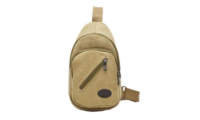 Canvas Unbalance Pack Crossbody Bag For Men