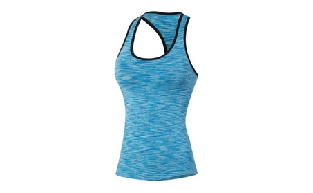 Women's Sleeveless Training Vest Fit Compression Tight Tank Top 39d64f98-c74d-46a9-ab9c-ada29ccdbd98