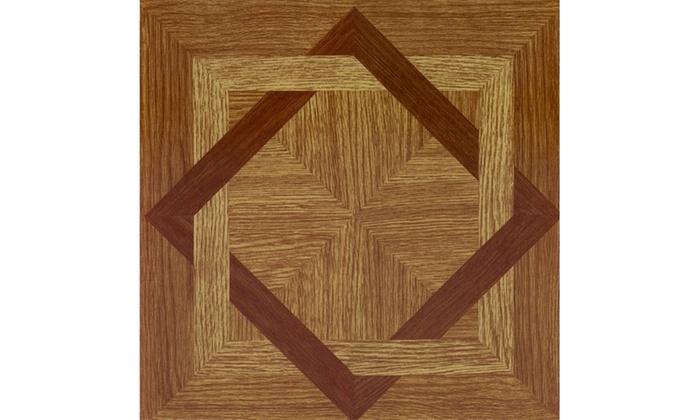 Groupon Goods: Tivoli Wood Diamond 12x12 Vinyl Tile - 45 Tiles/45 sq Ft.
