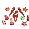 11ct Shiny Red Holiday Themed Glittered Shatterproof Xmas Ornaments