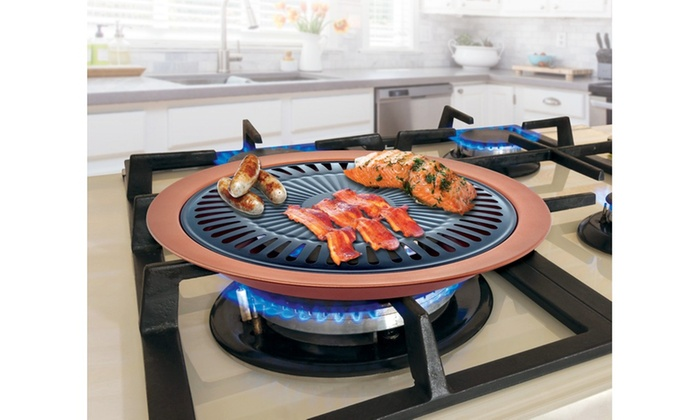 Copper Non-stick Stove Top Indoor Grill | Groupon