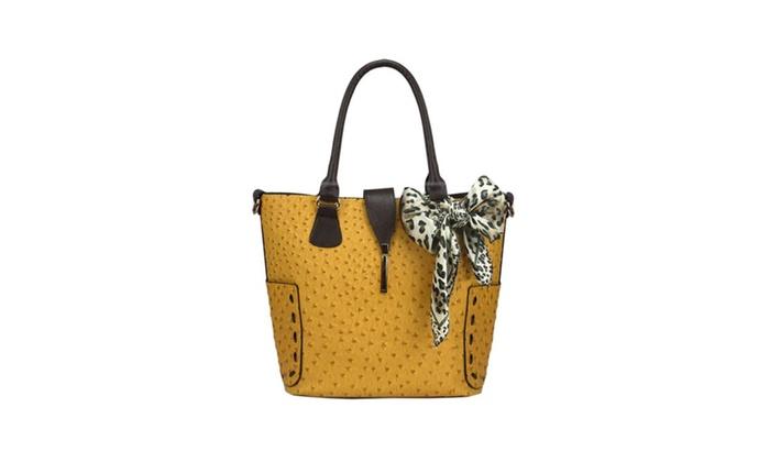 Women's Colorblock  Pattern Handle Bag
