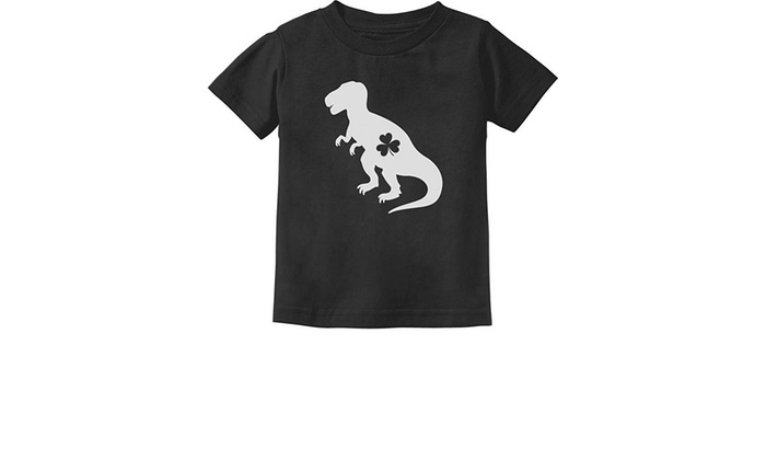 Irish T-Rex Dinosaur Clover St Patricks Day Short Sleeves T Shirt Baby Boy