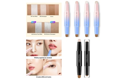 2 Pack Highlight Contour Duo Shadow Bronzer Makeup Cream Face Eye Chin Chic Pen