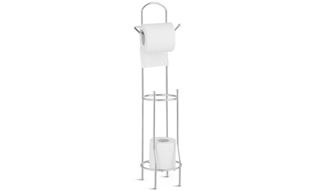 Costway Free Standing Toilet Paper Roll Holder for Bathroom Storage
