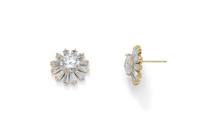 38% Off on Round and Baguette Crystal St... | Groupon Goods