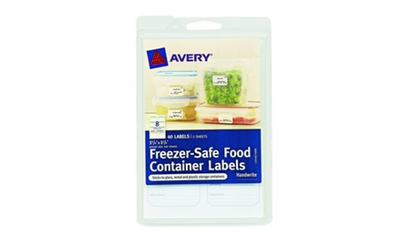 Avery Freezer-Safe Food Container Labels, 1.25 x 1.75-Inches, Pack of 40 (40174)