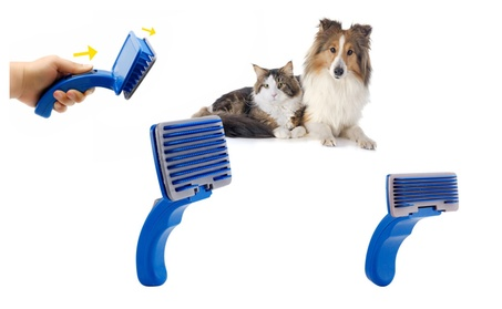 Pet Grooming Self Cleaning Slicker Brush Comb Shedding Tool Hair Fur e541906e-4eb3-41db-b665-330eddc84289
