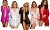 Sexy See Through Kimono Chemise Sleepwear Women's Dress Lingerie