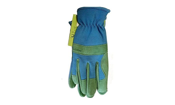 Touchstone Leather and Dura-KnitTM Stretch Back Professional Sage Work Gloves