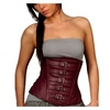 Women's Sexy Faux Leather Cincher Waist Underbust Corset