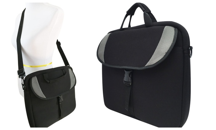 Low Profile Slim Crossbody Notebook Bags and Table Foam Sleeve - Black