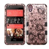 Insten Four Leaf Silicone Case For Htc Desire 626 626s Rose Gold Blk