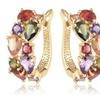 AmericanFit Bijoux Rainbow Flower Garden Hoop Earrings
